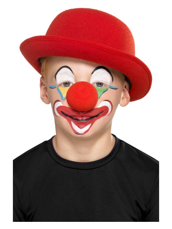 Smiffys Make-Up FX, Family Clown Kit, Aqua, with Facepaints, Crayons, Nose & Applicators