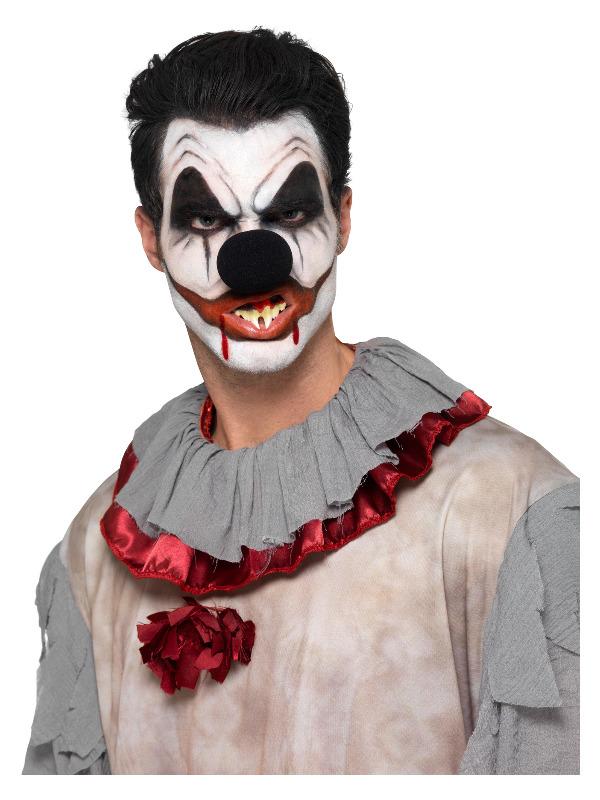 Smiffys Make-Up FX, Killer Clown Kit, Aqua, Multi-Coloured,  Face Paints, Blood, Nose, Teeth & Applicators