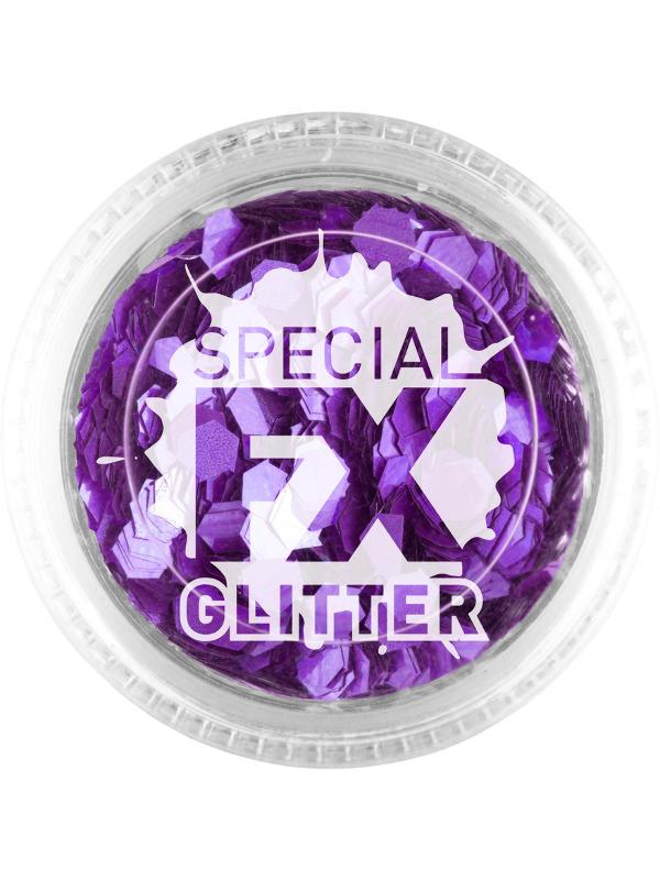 Smiffys Make-Up FX, Purple, Confetti Glitter, 2g, Loose
