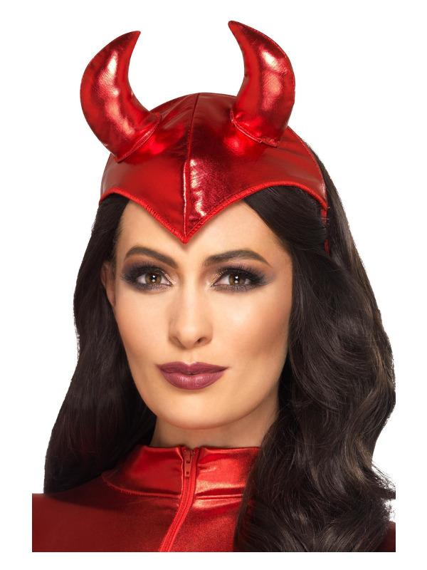Fever Devil Headband, Red