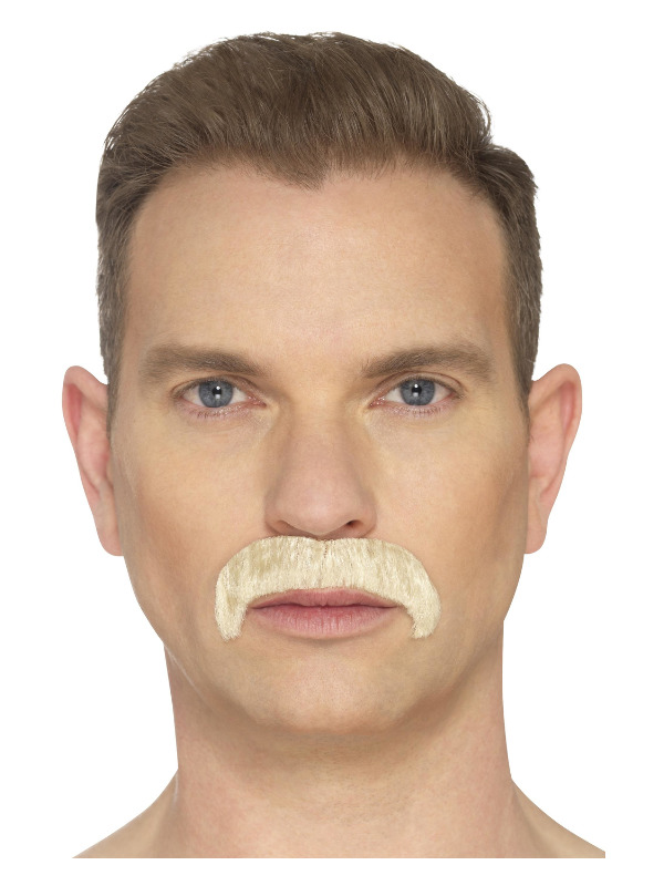 The Horseshoe Moustache, Blonde, Hand Knotted