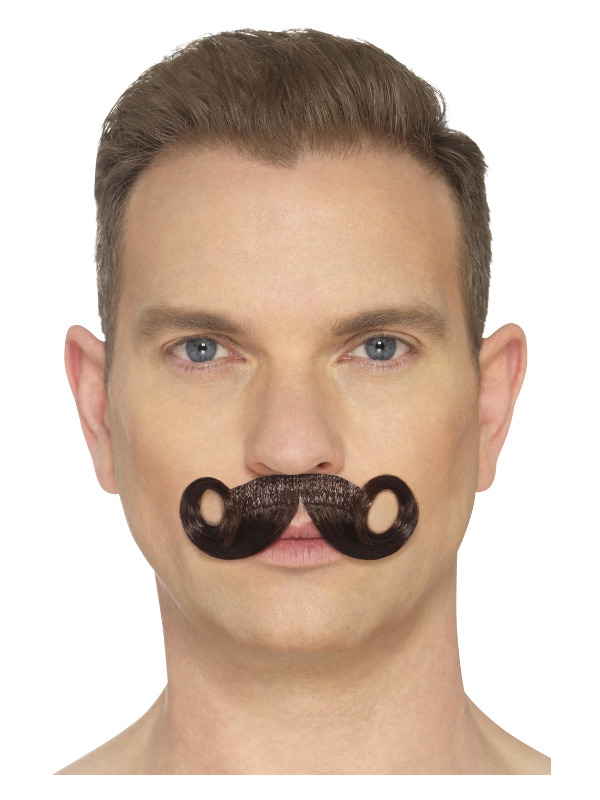 The Imperial Moustache, Brown, Hand Knotted
