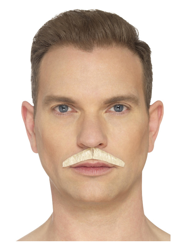 The Pencil Moustache, Blonde, Hand Knotted, Deluxe