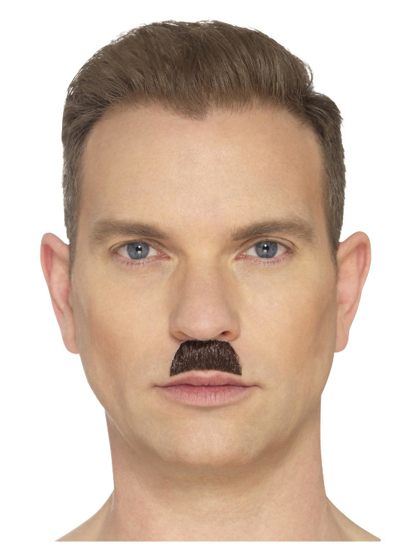The Toothbrush Moustache, Brown, Hand Knotted