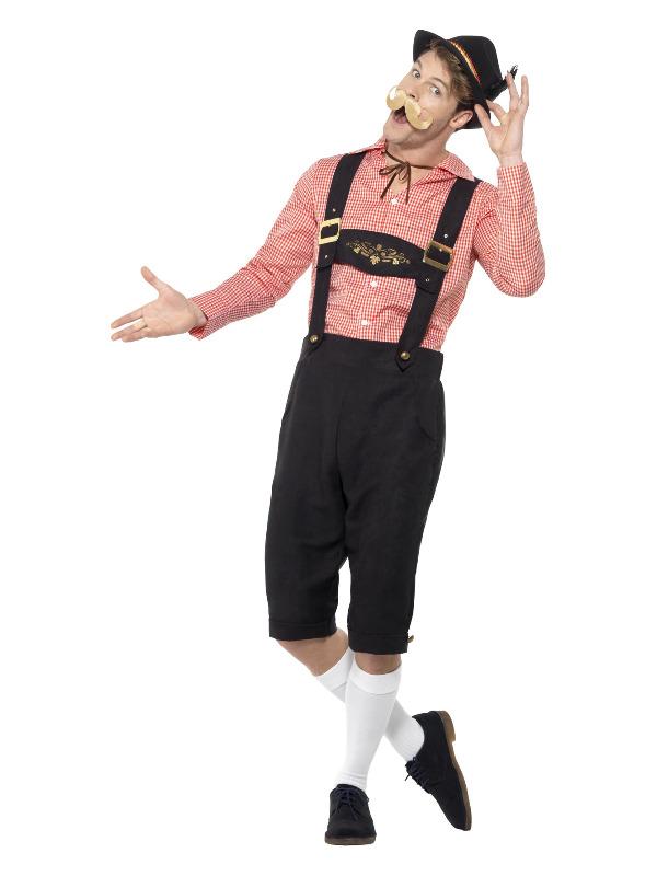 Bavarian Beer Guy Costume, Red