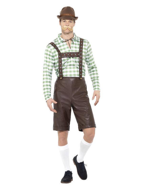 Bavarian Man Costume, Green & Brown