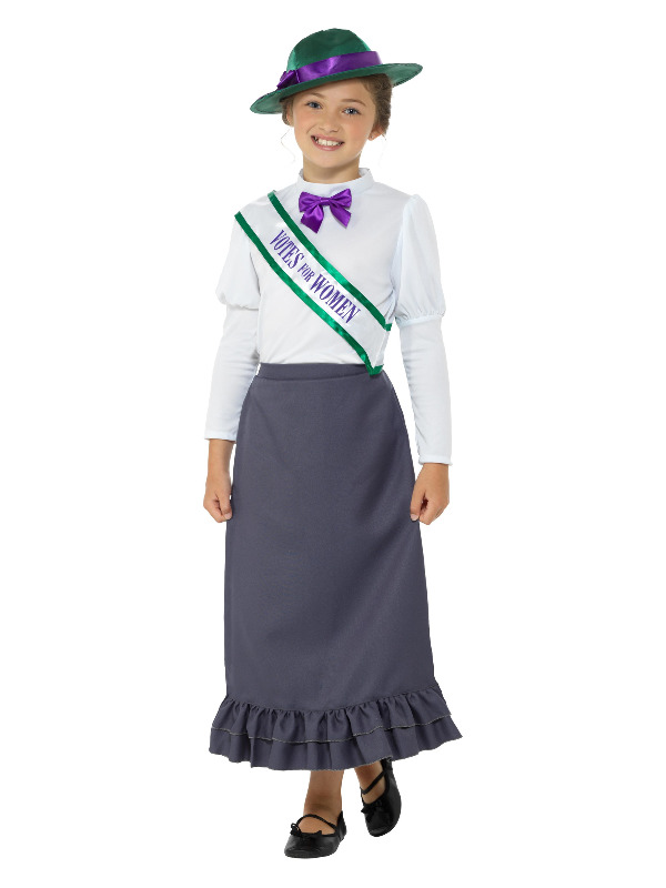 Victorian Suffragette Costume, Grey