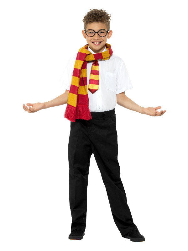 Schoolboy Kit, Gold & Red, with Scarf, Tie & Glasses