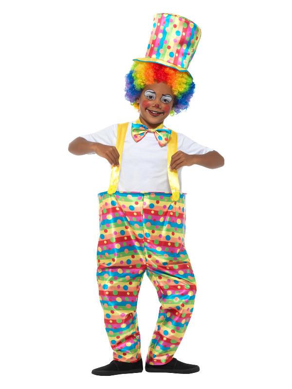 Boys Clown Costume, Multi-Coloured