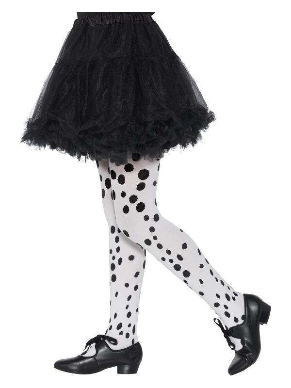 Dalmatian Tights, Childs, Black & White, Age 6-12