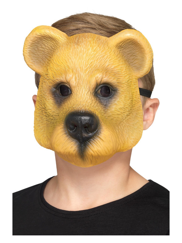 Bear Mask, Child, Light Brown