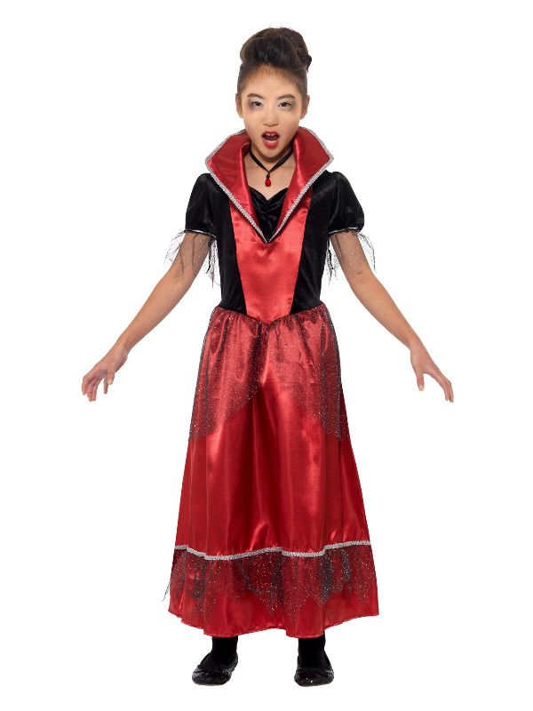 Vampire Princess Costume, Black & Red