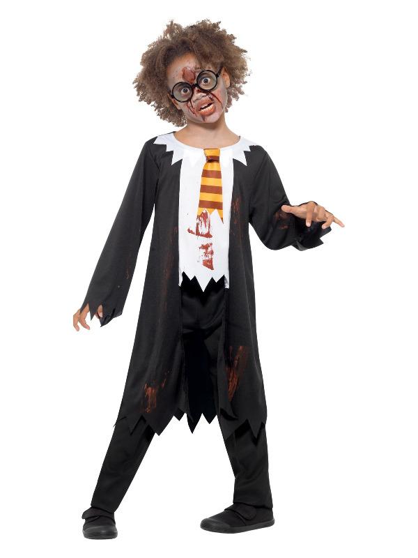 Zombie Student Costume, Black & White