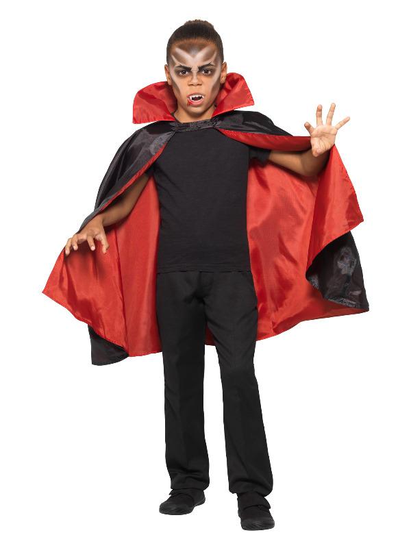 Reversible Vampire Cape, Black & Red