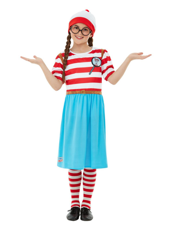 Where's Wally? Wenda Deluxe Costume, Red & White