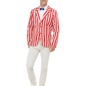 20s Barber Shop Costume, Red & Cream