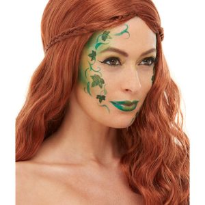 Smiffys Make-Up FX, Woodland Pixie Aqua Kit, Facepaints, Transfers, Glitter Pot & Applicators