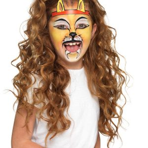 Smiffys Make-Up FX, Kids Animal Kit, Aqua, Multi-Coloured, with 6 Colours, Stencils, Sponges & 2 Headbands