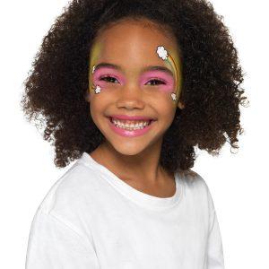 Smiffys Make-Up FX, Kids Five Character Kit, Aqua, Multi-Coloured, with 8 Colours, Sponge, Brush & Booklet