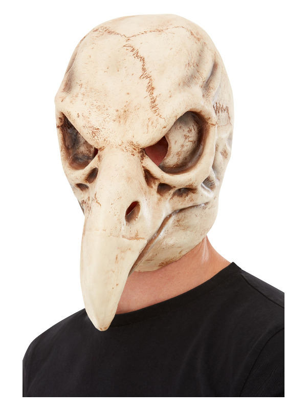 Bird Skull Latex Mask, White