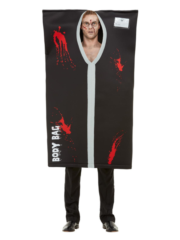 Bodybag Costume, Black, with All In One