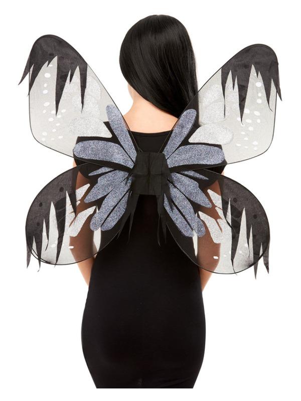 Dark Botanicals Moth Wings, Grey, 65cm/26in