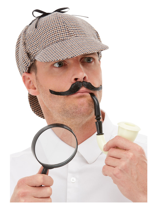 Detective Kit, Multi-Coloured, with Hat, Pipe & Magnifying Glass