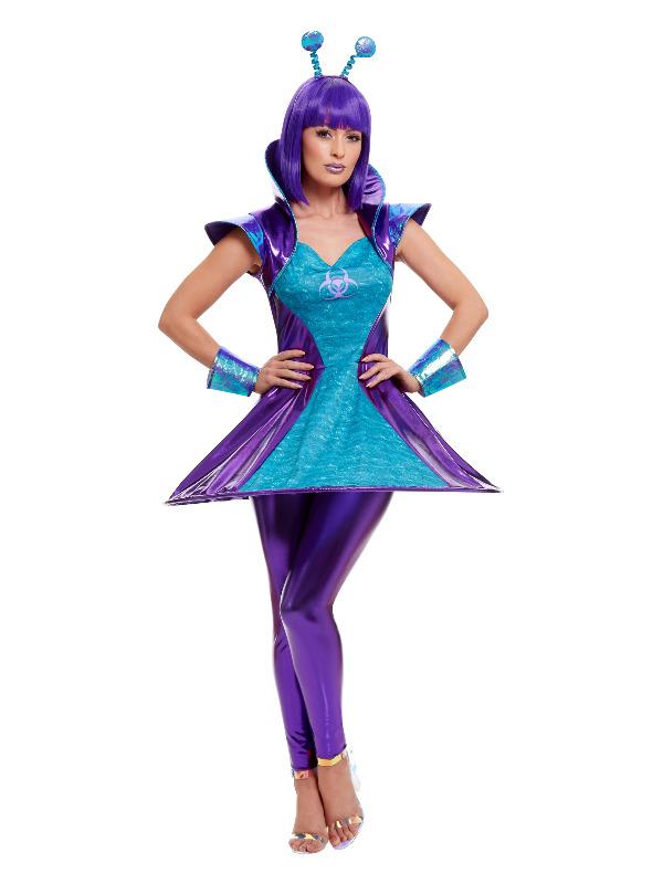 Alien Lady Costume, Multi-Coloured