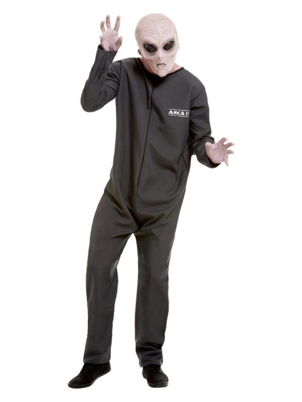 Area 51 Hazmat Suit Costume, Grey