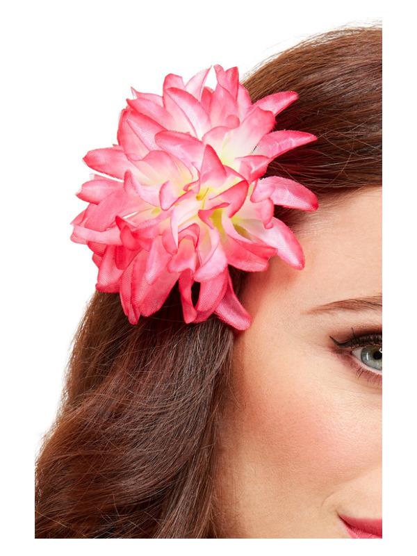 Tropical Hawaiian Flower Hair Clip, Pink