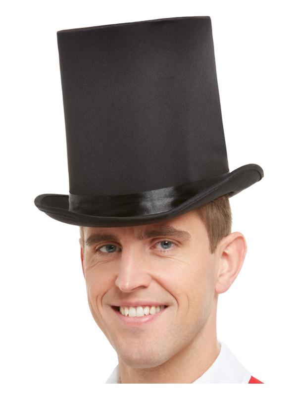 Deluxe Top Hat, Black, with Elastic Inner Rim