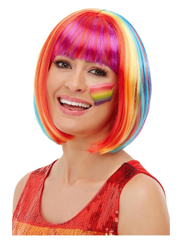Rainbow Bob Wig, Multi-Coloured