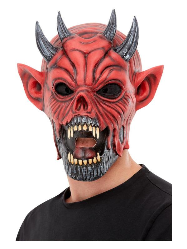 Devil Latex Mask, Red