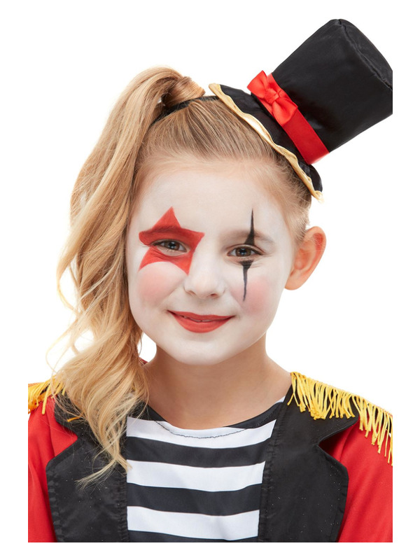 Smiffys Make-Up FX, Ringmaster Aqua Kit, Red, with Facepaints & Crayons