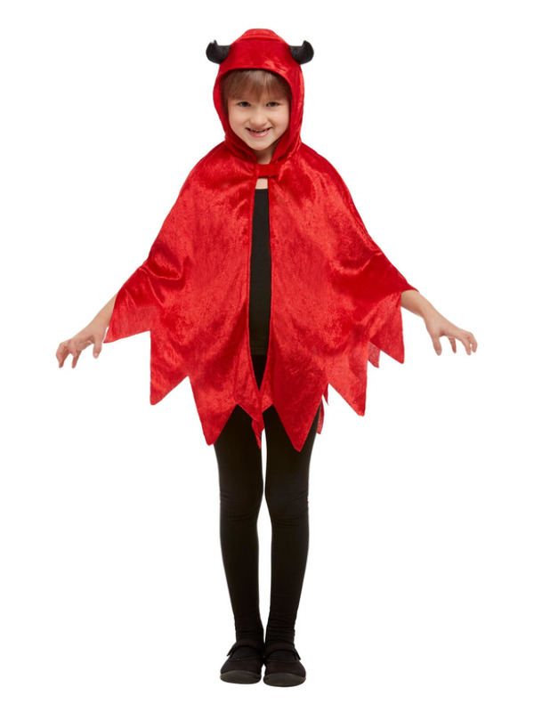 Devil Hooded Cape, Red
