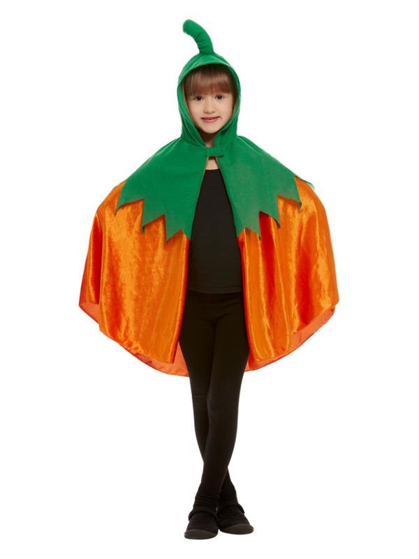 Pumpkin Hooded Cape, Orange