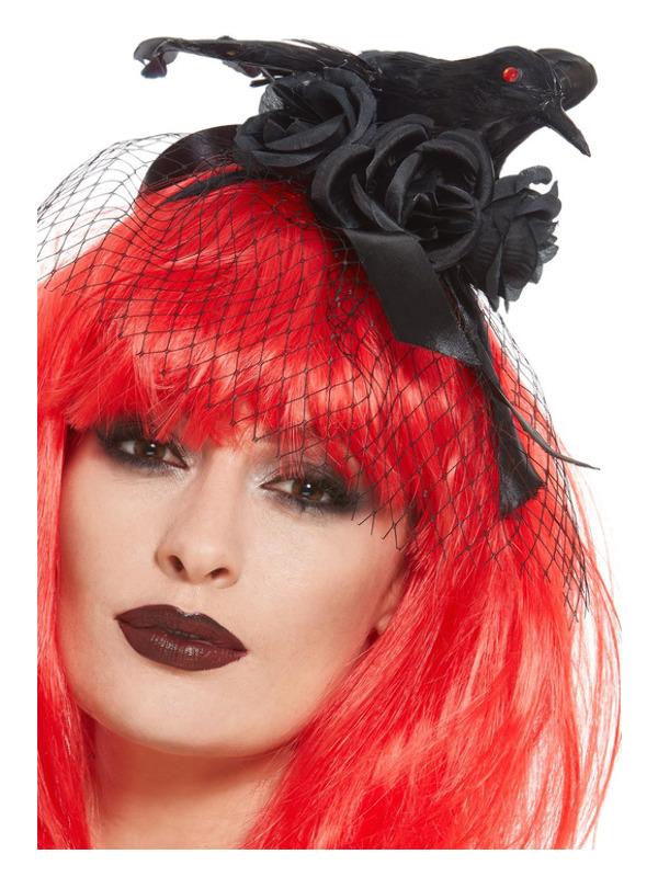Crow Headband, Black