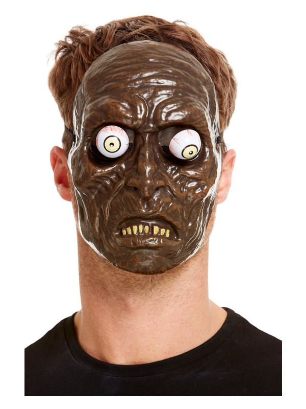 Zombie Mask, Green, PVC, with Moving Eyes