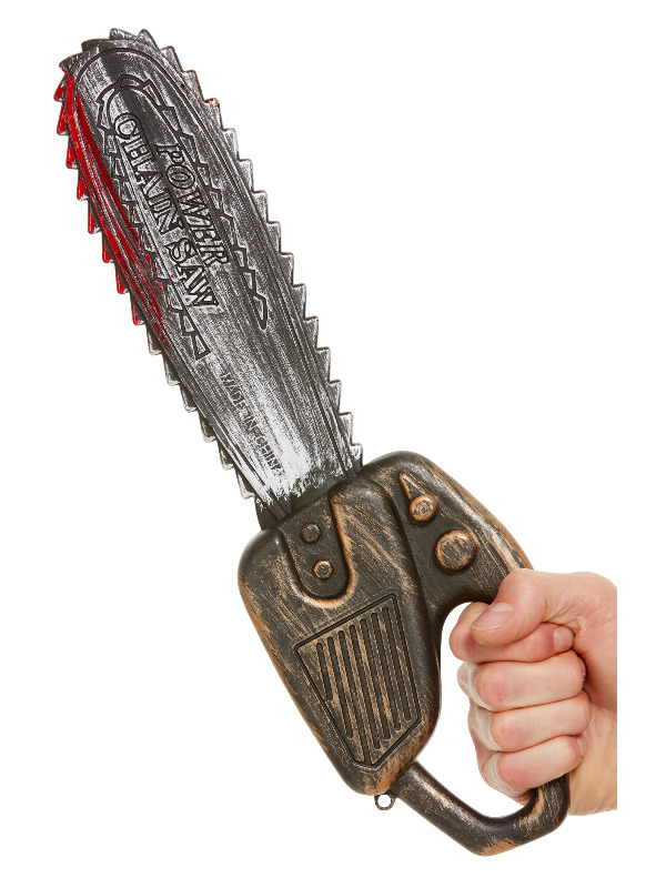 Chainsaw Prop, Silver, 40cm/16in
