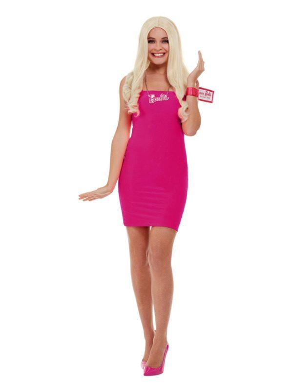 Barbie Kit, Pink, with Blonde Wig, Necklace & Bracelet Tag