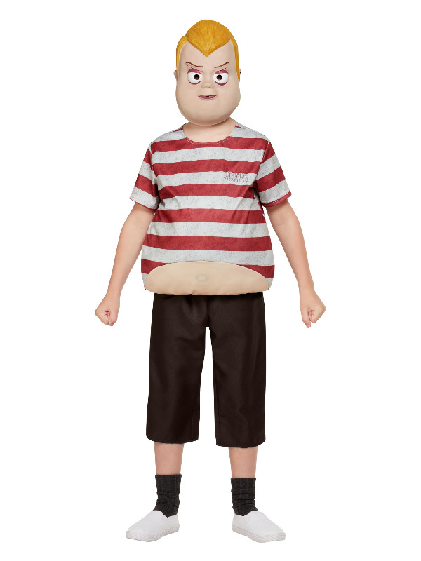 Addams Family Pugsley Costume, Burgundy