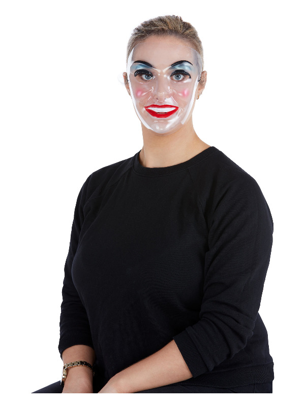 Transparent Mask, Female, Clear, with Elastic Strap