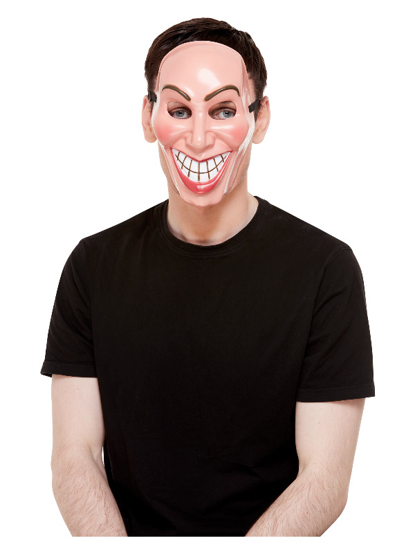 Smiler Mask, Male, Beige, with Elastic Strap