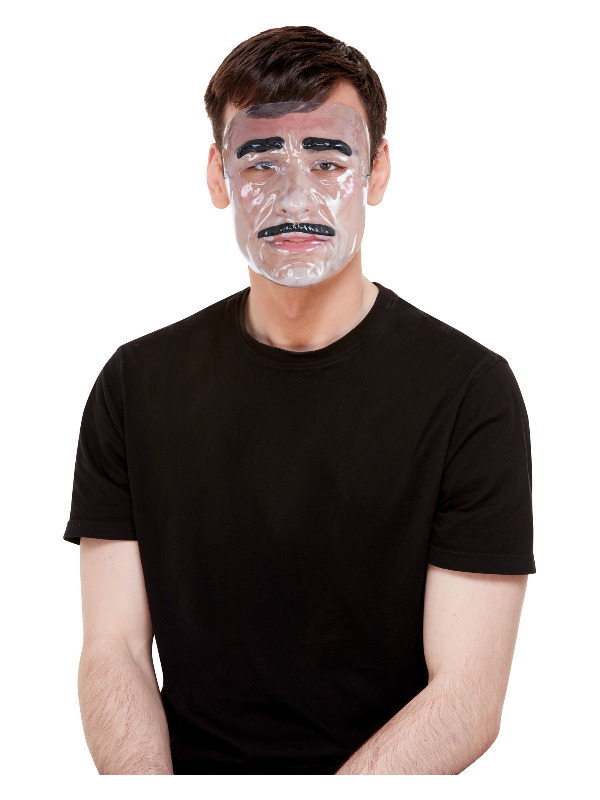 Transparent Mask, Male, Clear, with Elastic Strap