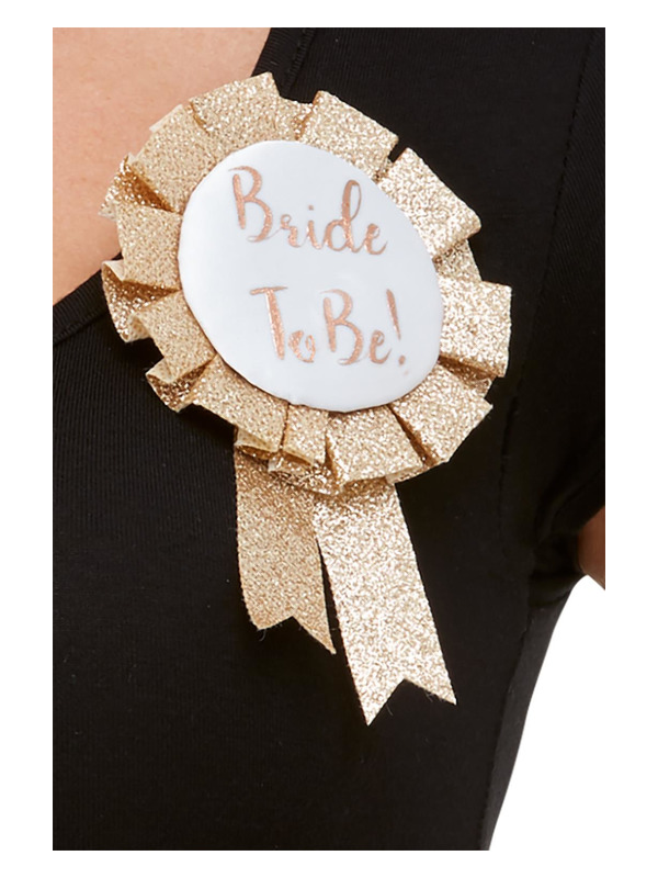 Bride To Be Rosette, Rose Gold