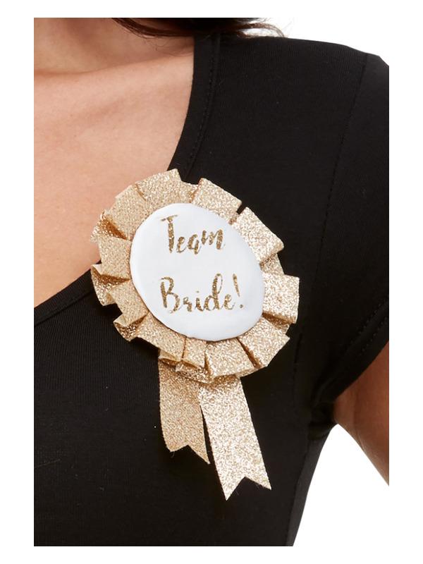 Team Bride Rosette, Rose Gold