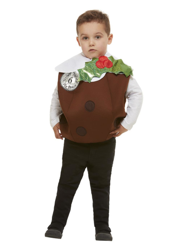 Christmas Pudding 3D Costume, Brown