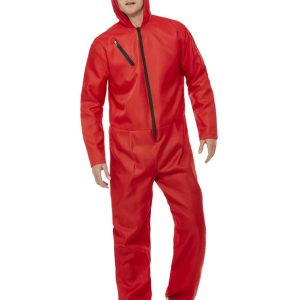 Bank Robber Jumpsuit, Red