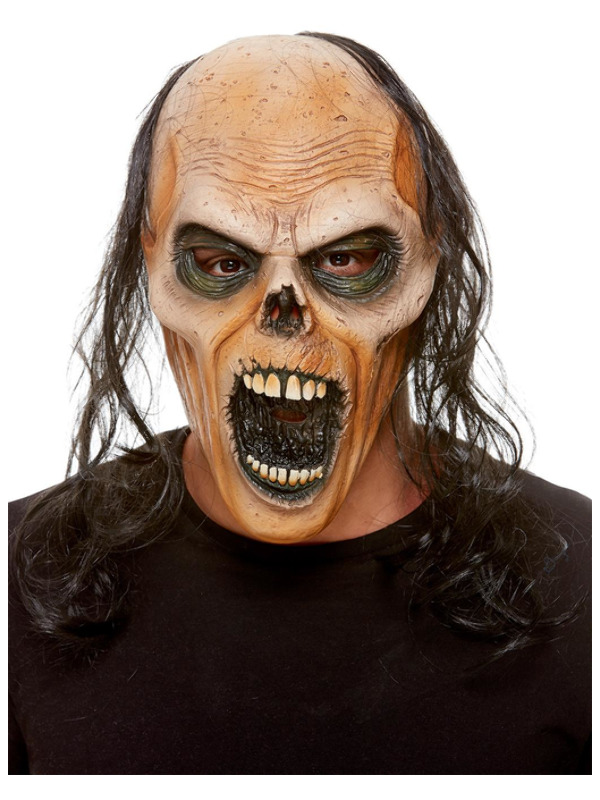 Zombie Latex Mask, Brown