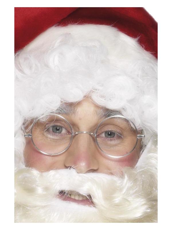 Wire Framed Santa Specs, Silver